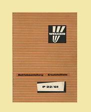 WELGER Presse Ballenschleuder P 22  61  Anleitung Ersatzteilliste Original