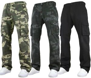 Fremont & Harris Mens Cargo Combat Military Pant Camouflage Trousers