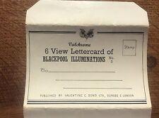 Set 6 Colour Photographs Postcard Lettercard Blackpool Illuminations Lancashire