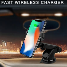 Qi Wireless Fast Car Charger Stand Mount Holder for Samsung Note 8 iPhone 8x 3ca