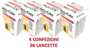 Roche Accu-Chek Fastclix -4 confezioni da 24 lancette =  96 Lancette Pungidito