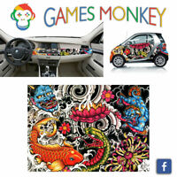 Pellicola Car Wrapping Adesiva 70x50 cm - JAPANESE TATTOO - Vinile PVC Lucido HD