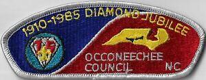 Occoneechee Council, NC 1910-1985 Diamond Jubilee CSP LGY Border [MX-11208]