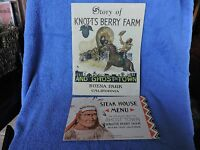 THE STORY OF KNOTTS BERRY FARM AND GHOST TOWN PAMPHLET FROM 1949 WITH BONUS