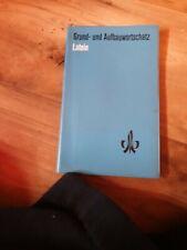 Schulbuch Grund- und Aufbauwortschatz Latein aus dem Klett Verlag von 1990