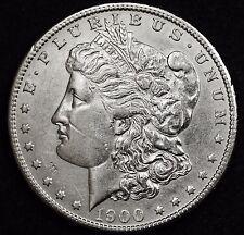 1900-s Morgan Silver Dollar.  A.U.  103671