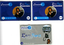 Cambodia 3 different Easy Phone cards from CAMINTEL as 4 scans.