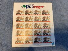 US Postage PANE OF 20 DR SUESS STAMPS 37 CENT FACE MNH