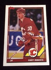 GARY ROBERTS 1991-92 TOPPS Autographed Signed AUTO HOCKEY Card FLAMES 320