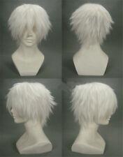 Japan Anime Tokyo Ghoul Kaneki Ken Short White Cosplay Costume Wig +Wig CAP