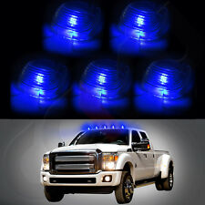 5X Clear Cab Roof Marker Cover Lens + 5x Free Bulb Blue LED Light For Ford F-150