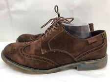 Mens PIKOLINOS Brown Suede Oxfords Shoes Rubber Gum Soles SIZE 43 US 9.5-10