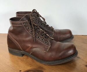 FRYE Men's Whiskey Brown Leather Prison Boots Size 11