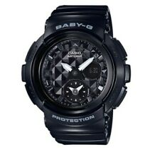New Casio Baby-G Black Faceted Dial Analog/Digital BGA195-1A 889232138930