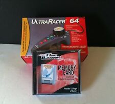 BRAND NEW ULTRA RACER CONTROLLER AND 256K MEMORY CARD PAK N64 NINTENDO 64