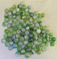 #10947m Vintage Group of 100 Mostly Vitro Agate Marbles .60 to .65 Inches