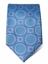 Türkis Seide Krawatte mit weißen & blauen Kreisen
