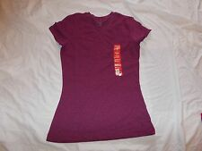 NEW WITH TAGS WOMEN'S DANSKIN NOW V-NECK ESSENTIAL TEE SIZE SMALL 4-6