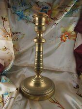 ancien bougeoir XIXe empire en bronze doré ciselé chandelier flambeau lampe
