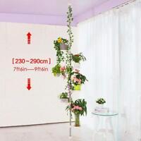 7-Layer Indoor Plant Stand Metal Tension Pole Planter Shelf Flower Display Rack