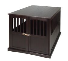 Pet Crate End Table Wooden Large Traditional Versatile Stylish Dog Cat Home NEW