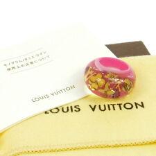 Authentic Louis Vuitton Vintage Logos Inclusion Ring Pink Plastic M66753 V01094