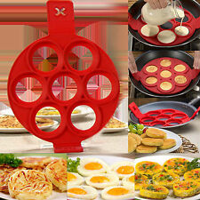 Anti-adhésif Pancake Crêpe Moule Silicone œuf Omelette Ring Maker Cuisine Outils