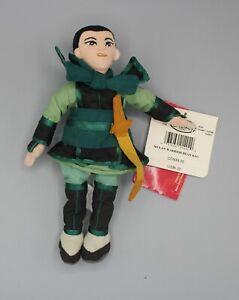 "Disney Store Mulan Warrior 9"" Plush Bean Bag Stuffed Toy with Tags"