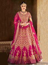 Bollywood Ethnic Designer Wedding Wear Indian Silk Lehenga Choli Saree Sari New