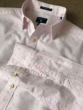 WORN ONCE GANT BROADCLOTH PINK POLKA DOT STRIPE FITTED SHIRT M MEDIUM