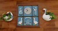 Vintage Elgin Wall Clock Habersham Country Goose Geese Design 1987