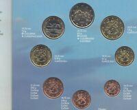 Finlandia Euro circulacion 8 valores año 2001 @ En cartera @