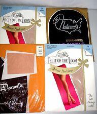 4 Pr. Vintage Nylon Stockings- Seamless Flat & Mesh Knit- Sz. 9- MIP