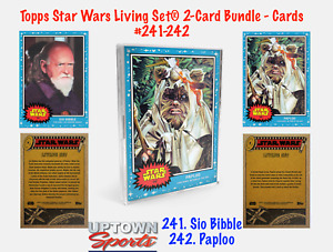 Topps Star Wars Living Set 2-Card Bundle Cards 241-242 - SIO BIBBLE - PAPLOO