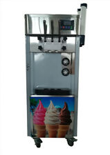 Intbuying Soft Ice Cream Machine for Commercial Cold Drink Shop 3 Heads 110V New