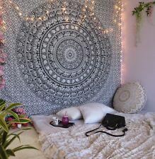Elephant Tapestry Black White Mandala Indian Wall Hanging Hippie Home Decor Gift