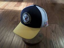 New U.S Military Navy Hat Deluxe Mesh 3-D Embroidered U.S Navy Baseball Cap