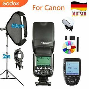 Godox V860II-C 2,4 G i-TTL Li-On-Blitz+60*60cm Softbox Stativ+XPRO-C For Canon