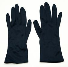 Vintage Gloves Navy Blue Nylon Size A Small Made in Hong Kong