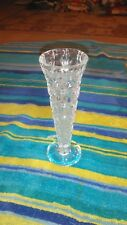 "5 1/2"" Prescut Diamond Clear Glass Bud Vase"