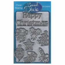 New listing Sweet Dixie A6 Clear Stamp Set - Sdcsa6009 Stitched Christmas