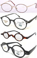 Retro Vintage Style Round Frame Designed Reading Glasses/Different Size +50~+400