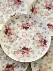 8 Schumann Bavaria Dinner Plates  Antique Pink Rose  Germany Mint Condition