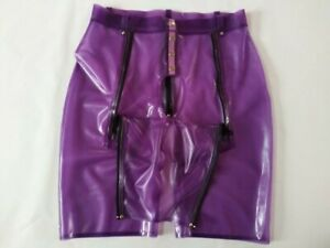 100% Latex Rubber Lila Sexy Boxershorts Shooting in kind Modeshorts 0.4mm S-XXL