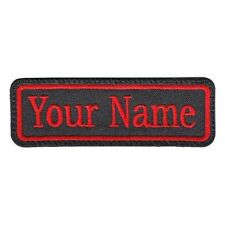 "4"" x 1.5"" inch 1 Line Custom Embroidered Biker Sew on / Iron on  Name Tag, PATCH"