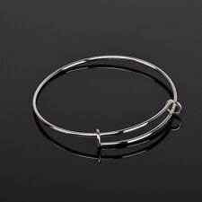 Wholesale Jewelry Adjustable Wire Bangle Stainless Steel Coil Bracelet