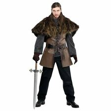 Adult Medieval  Furry Cape Mens Viking Warrior Cloak Historical Accessory