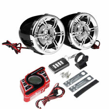 Waterproof Bluetooth ATV Motorcycle Stereo Speaker Audio System AUX FM USB Radio