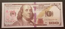 $100 US Ben Franklin Bill Looks Real Chinese Overprint Fake Spoof Novelty