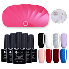 8 Colors Soak-off UV Gel Polish & Mini LED UV Lamp Nail Gel Dryer Manicure Kit